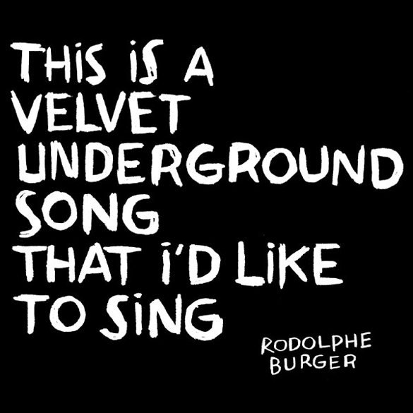 This Is A Velvet Undeground Song I'd Like To Sing